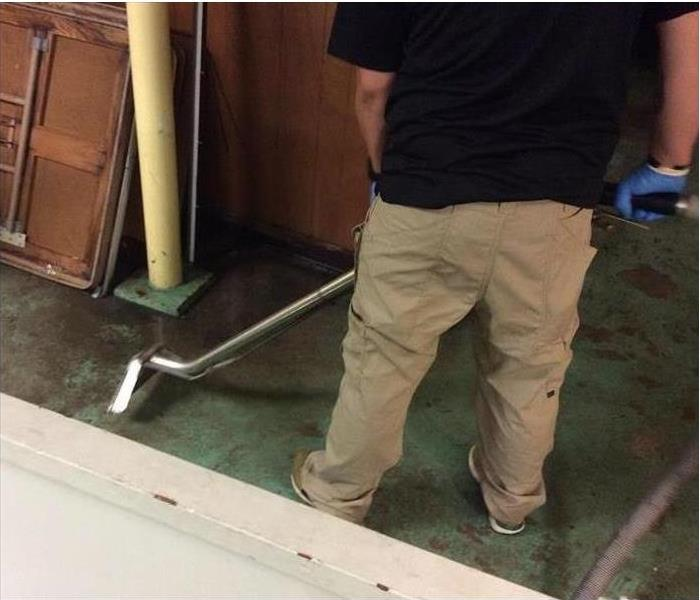 SERVPRO equipment restoring water damage in commercial building